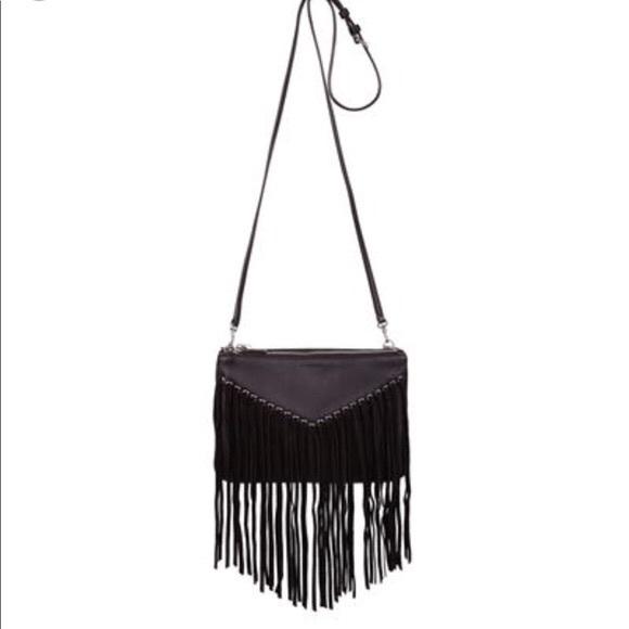 Sandro Handbags - SANDRO black fringe bag
